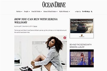 Ocean Drive Serena Williams